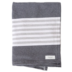 Cape Throw Navy - Cotton Throw - Made in Canada