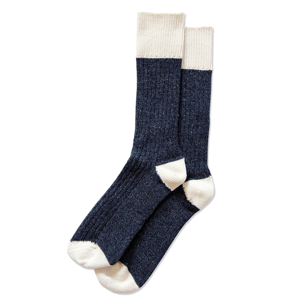 Province of Canada - Made in Canada - Colour Block Cotton Sock - Denim