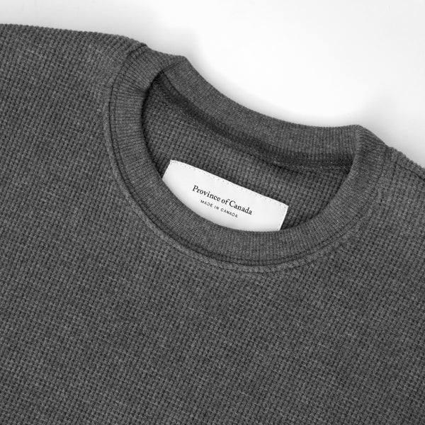 Made in Canada Waffle Long Sleeve Charcoal - Province of Canada
