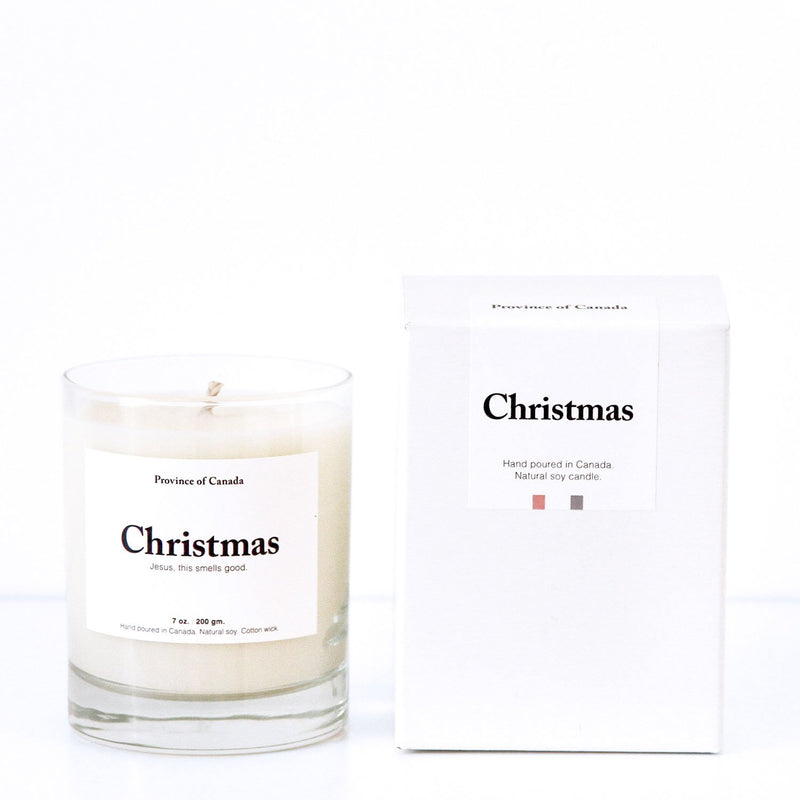 Christmas Candle - Made in Canada - Province of Canada