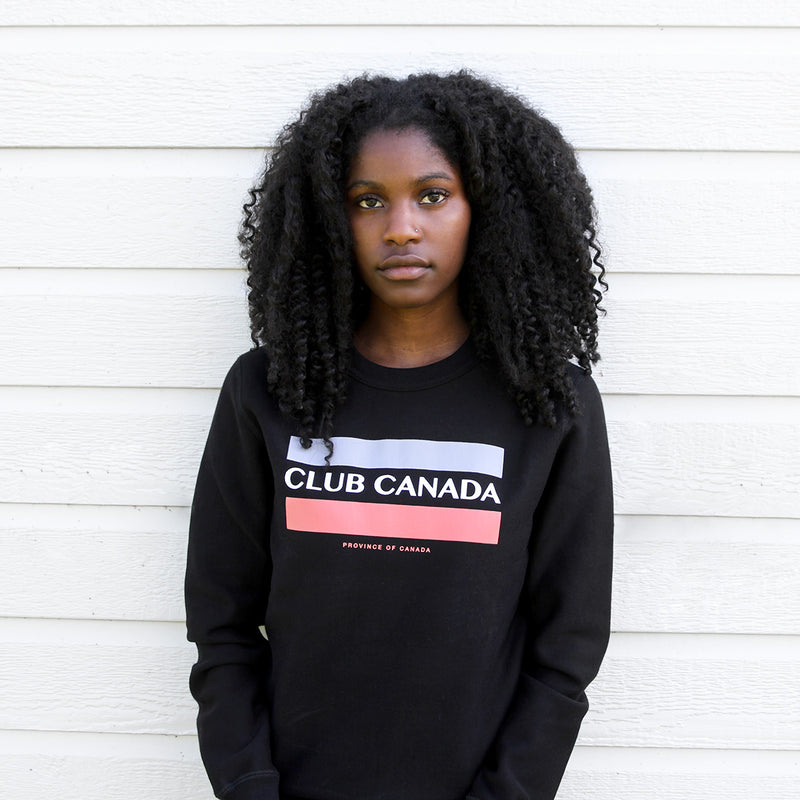 Province of Canada - Made in Canada - Club Canada Crewneck Black Unisex