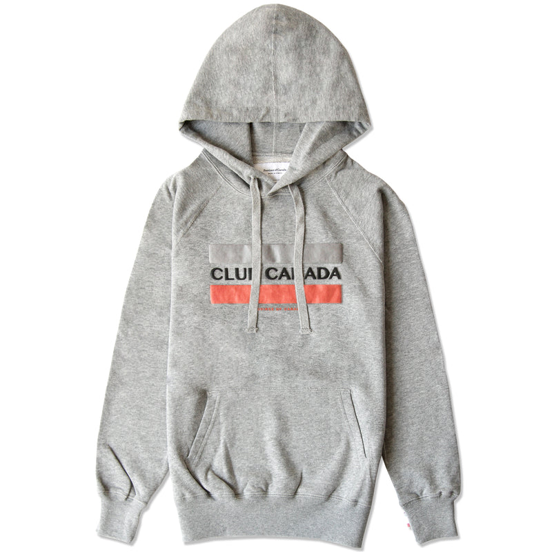 Club Canada Hoodie Heather Grey - Unisex