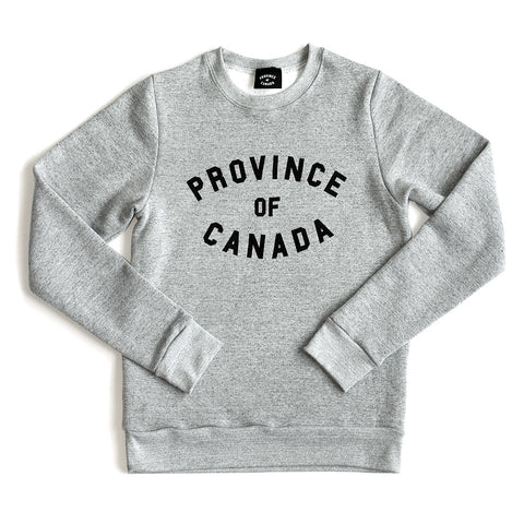 Province of Canada Lightweight Crewneck Marble Grey