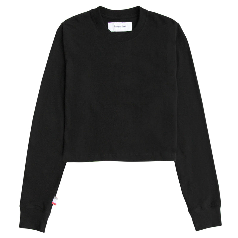 Monday Long Sleeve Crop Top Black