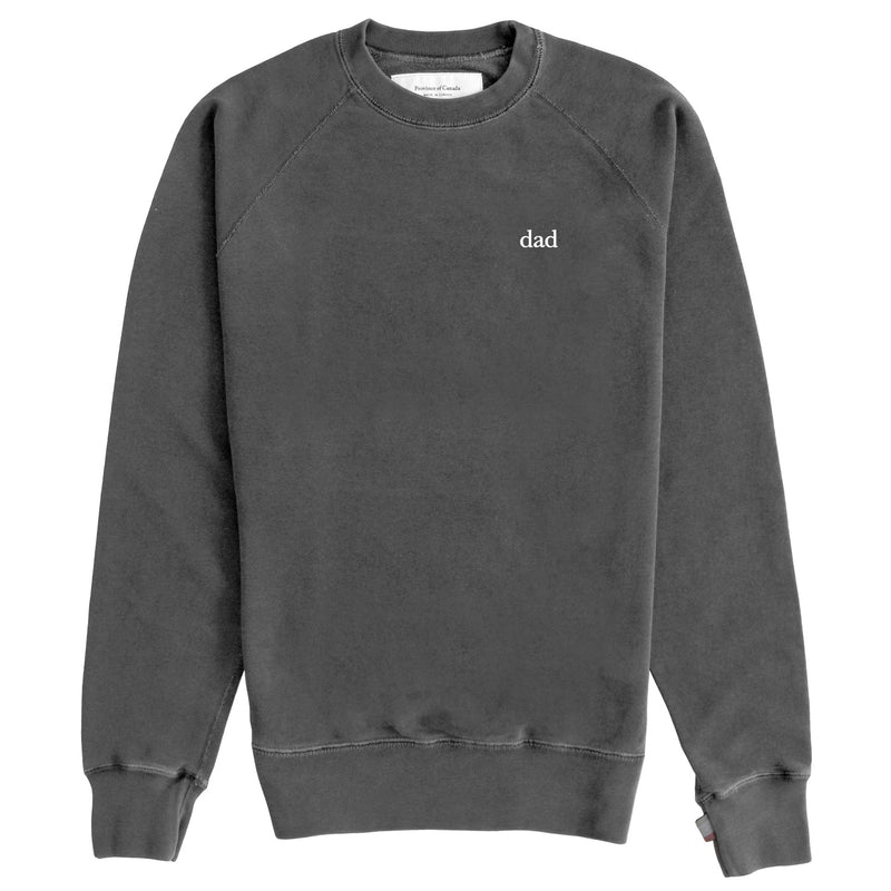 Dad French Terry Crewneck Sweater Washed Black