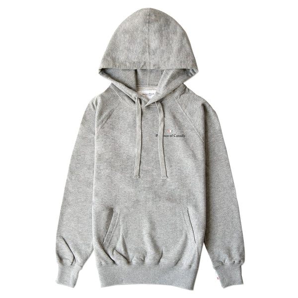 Logo Embroidered Hoodie Heather Grey - Unisex - Made in Canada - Province of Canada