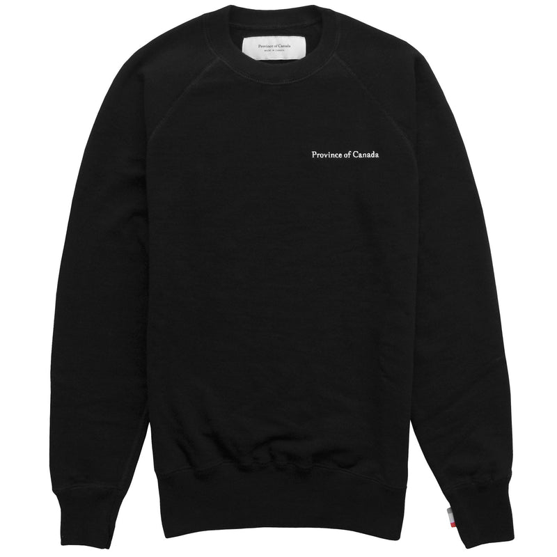 French Terry Sweater Black - Unisex