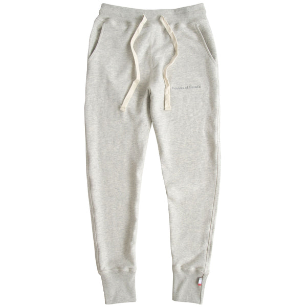 Made in Canada Skinny French Terry Sweatpant Eggshell - Unisex Province of Canada