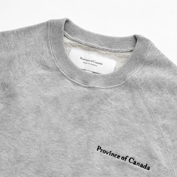 Made in Canada French Terry Sweater Heather Grey - Unisex - Province of Canada