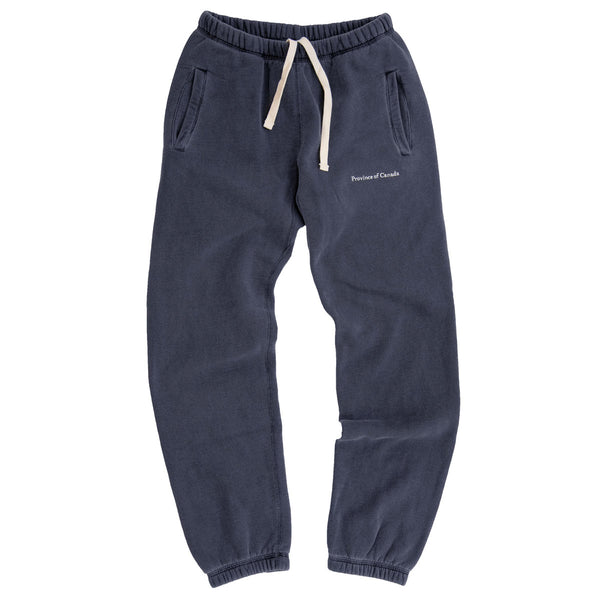 Lounge Fleece Sweatpant Washed Navy - Unisex - Made in Canada - Province of Canada