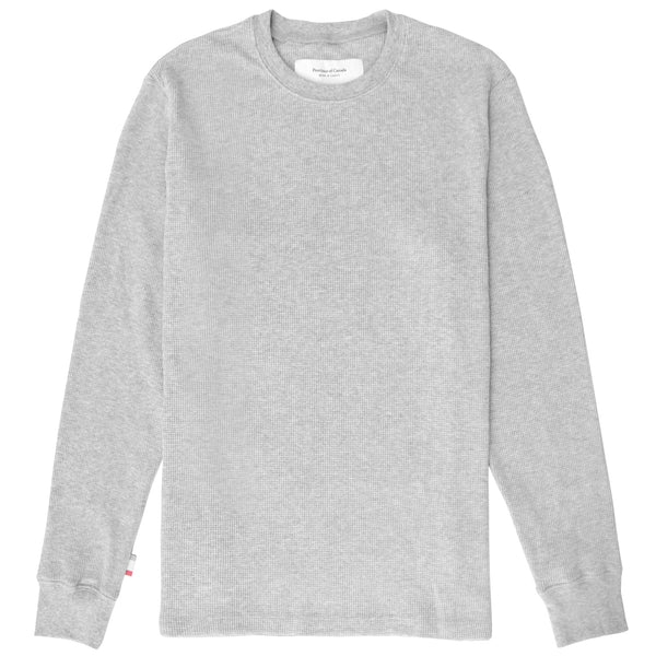 Made in Canada Waffle Long Sleeve Heather Grey - Province of Canada
