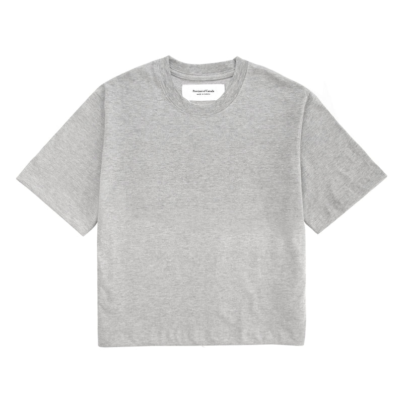 Monday Crop Top Heather Grey