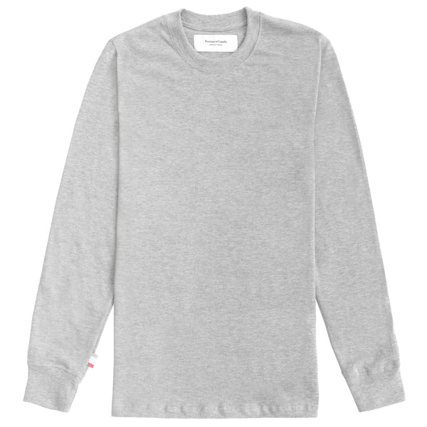 Monday Long Sleeve Tee Heather Grey - Unisex - Province of Canada