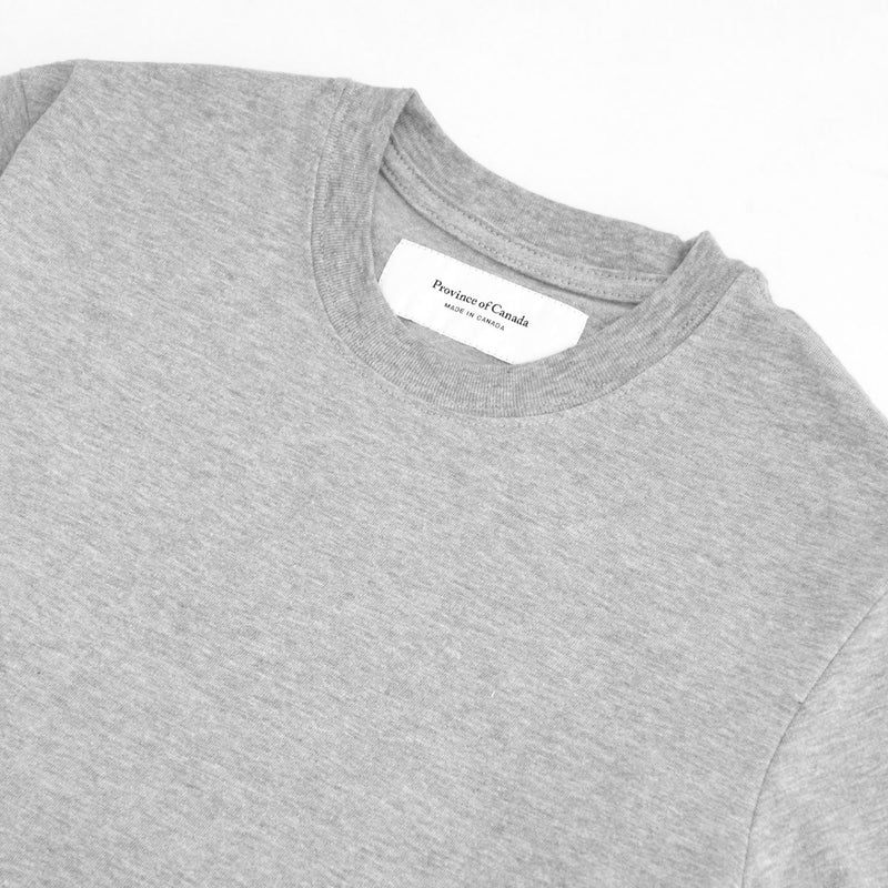 Monday Long Sleeve Tee Heather Grey - Unisex - Made in Canada - Province of Canada