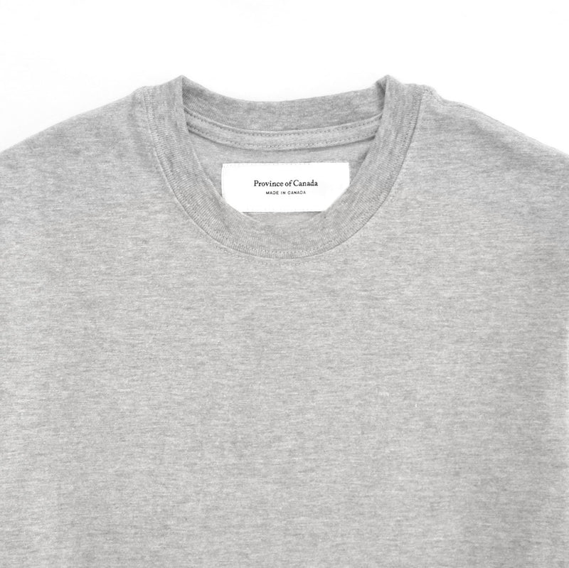 Monday Crop Top Tee Heather Grey - Made in Canada - Province of Canada