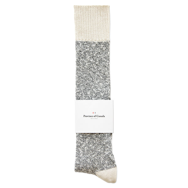 Province of Canada - Made in Canada - Heather Grey Cotton Sock