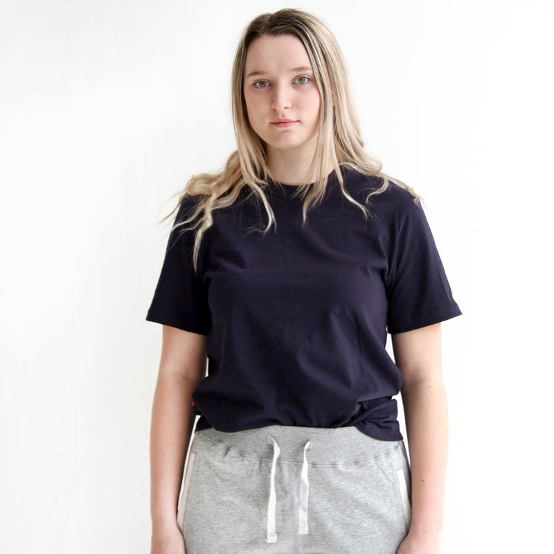 Monday Tee Navy - Perfect Unisex - Made in Canada - Province of Canada