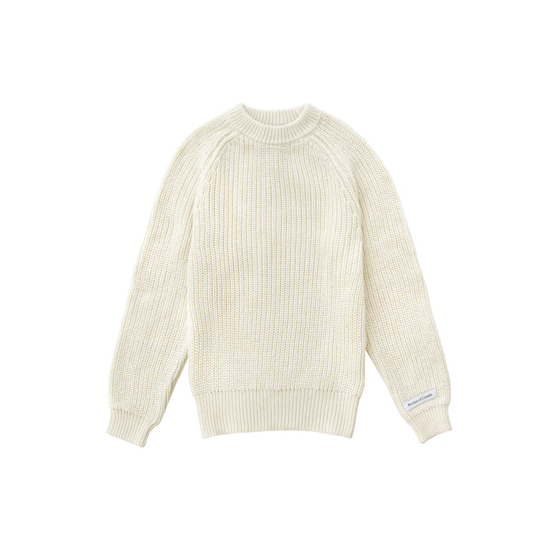 Kids Cotton Knit Sweater Ivory - Unisex - Province of Canada - Made in Canada