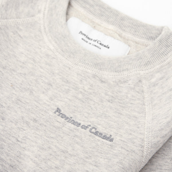 Kids French Terry Sweatshirt Eggshell - Unisex - Made in Canada - Province of Canada