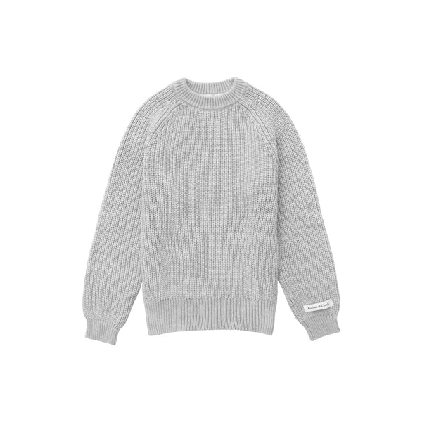 Kids Cotton Knit Sweater Grey - Unisex - Province of Canada - Made in Canada