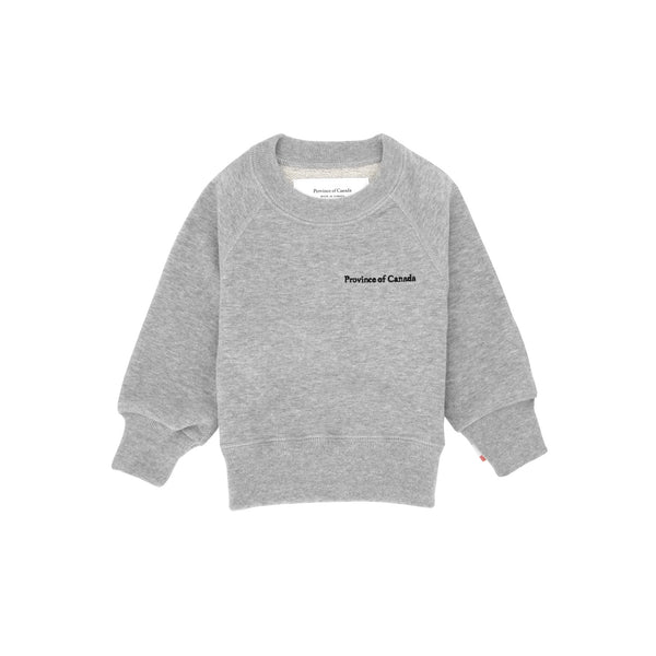 Kids French Terry Sweatshirt Heather Grey - Unisex - Made in Canada - Province of Canada