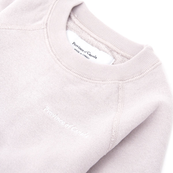 Kids French Terry Sweatshirt Champagne - Unisex - Made in Canada - Province of Canada