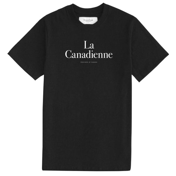La Canadienne Black Tee - Womens
