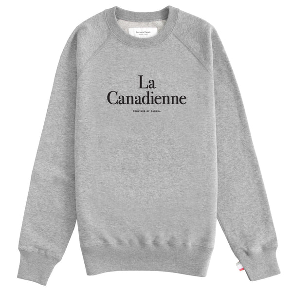 La Canadienne Sweatshirt Heather Grey - Womens