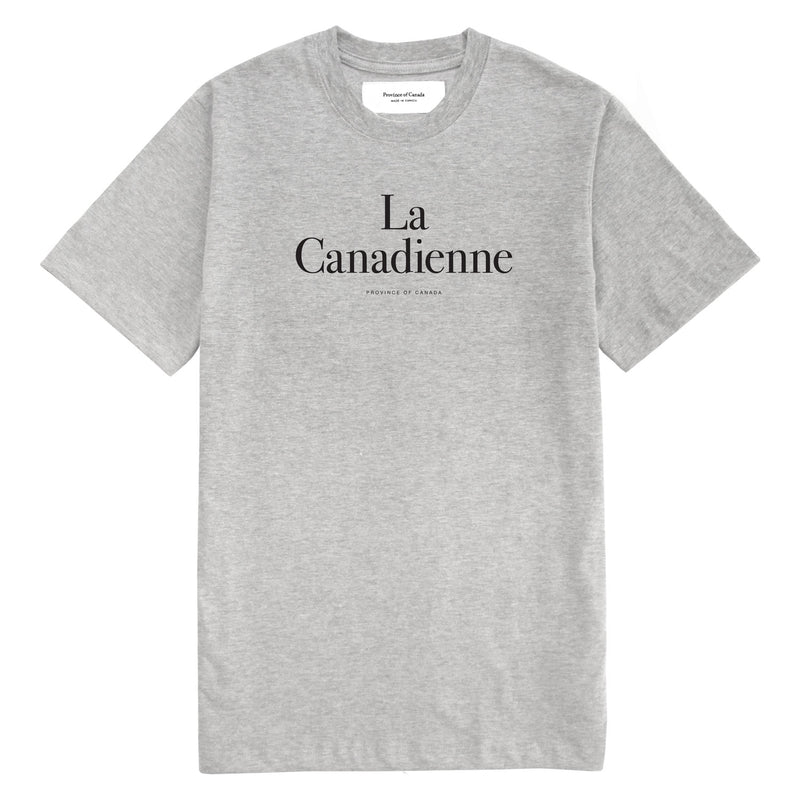 La Canadienne Heather Grey Tee - Womens