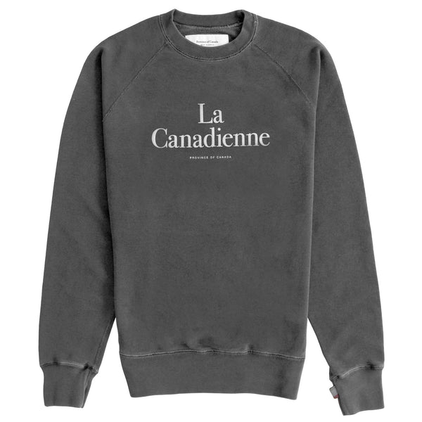 La Canadienne Crewneck Sweater Washed Black - Womens