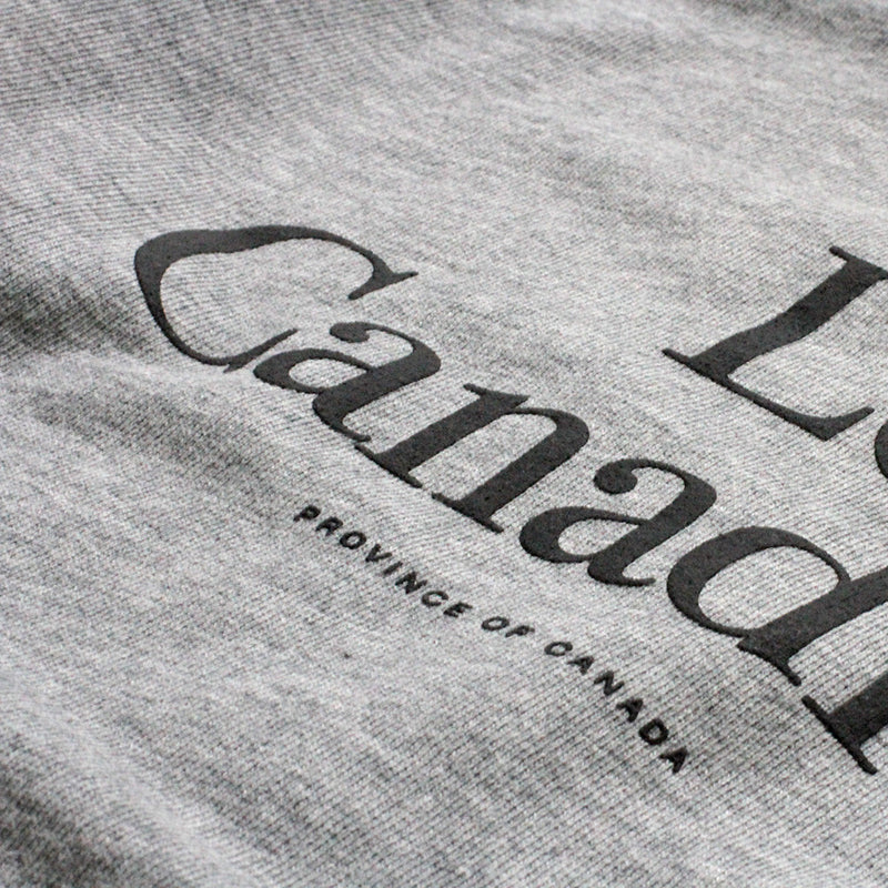 La Canadienne Crewneck Sweater Heather Grey - Womens