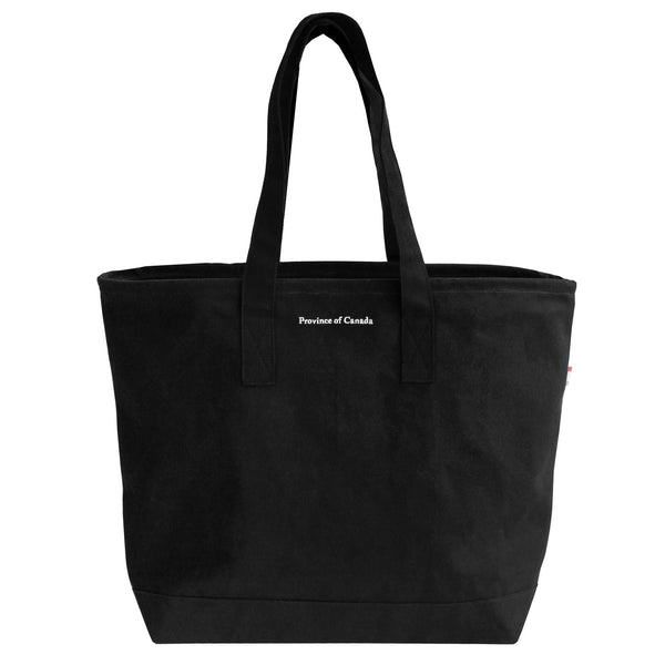Province of Canada Large Tote Bag Black - Made in Canada