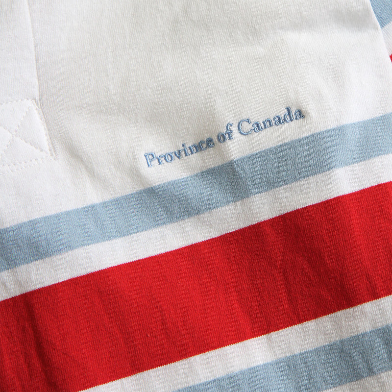 Lawrence Red, Blue and White Rugby Shirt Mens - Made in Canada - Province of Canada