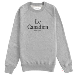 Le Canadien Crewneck Sweater Heather Grey - Mens