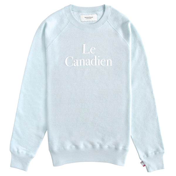 Le Canadien Crewneck Sweater Pool - Mens