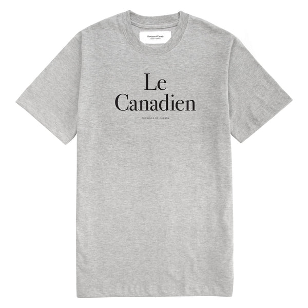 Le Canadien Heather Grey Tee - Mens