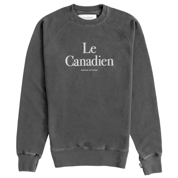 Le Canadien Crewneck Sweater Washed Black - Mens