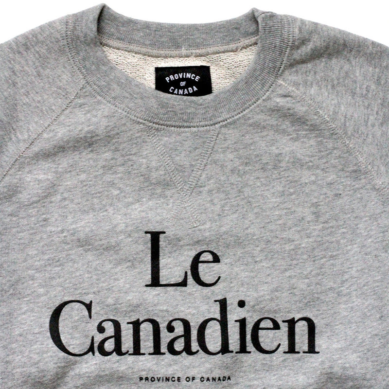 Le Canadien Crewneck Sweater - Province of Canada - Made in Canada