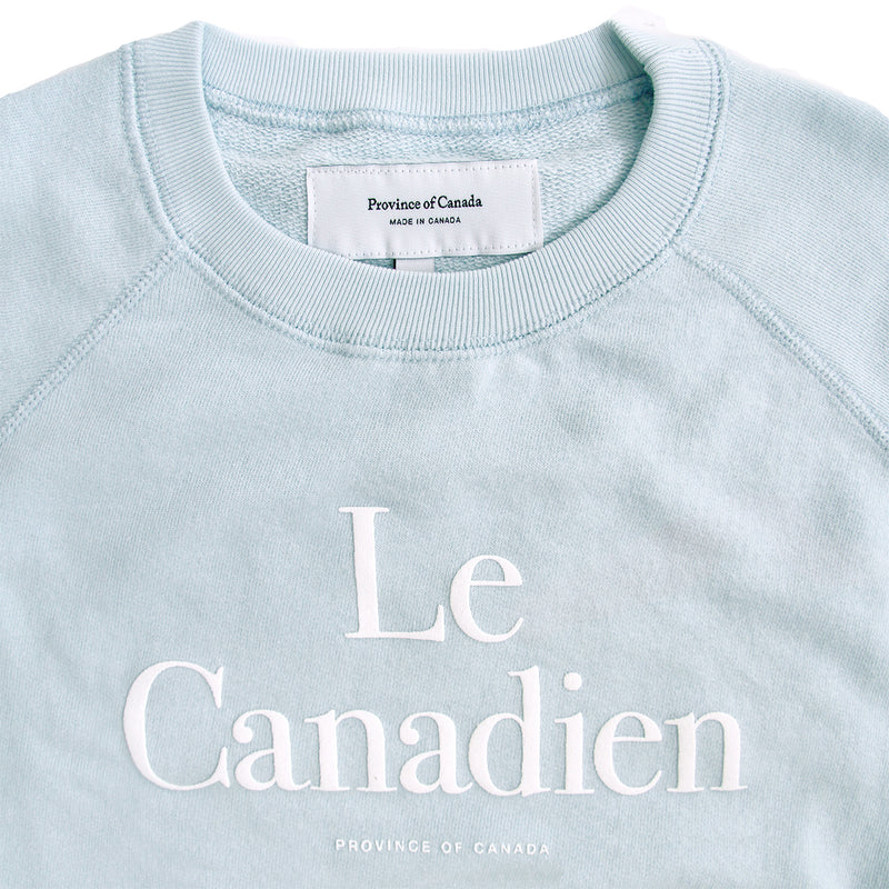 Le Canadien Crewneck Sweater Pool - Mens - Province of Canada