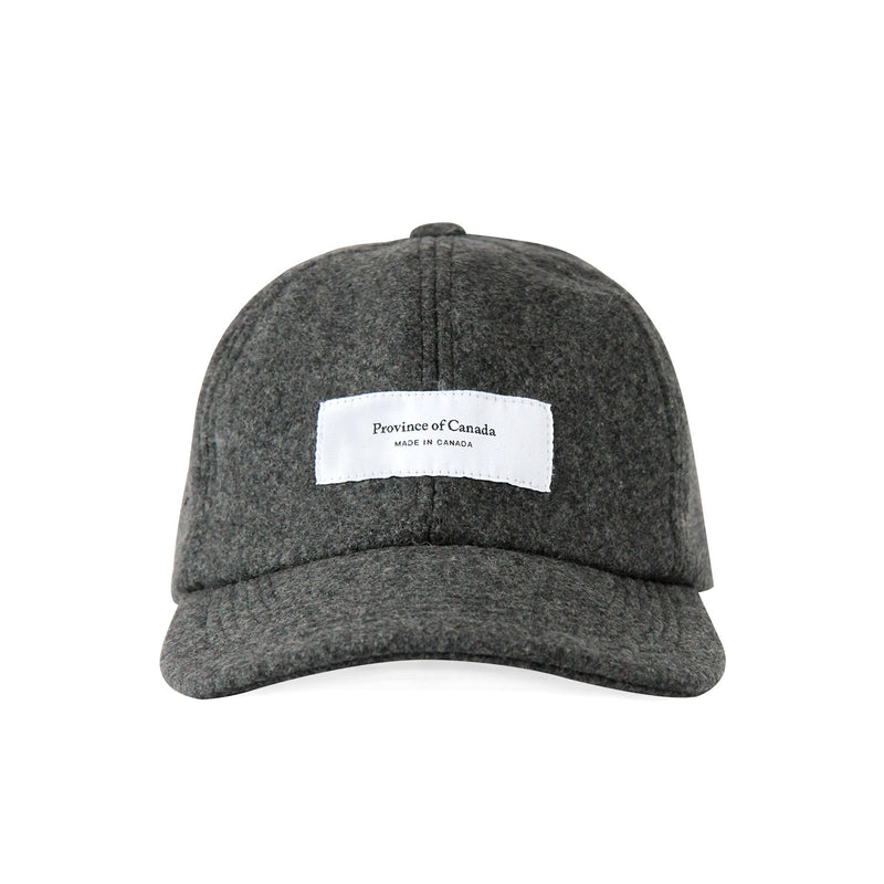 Logo Baseball Hat Melton Wool Charcoal