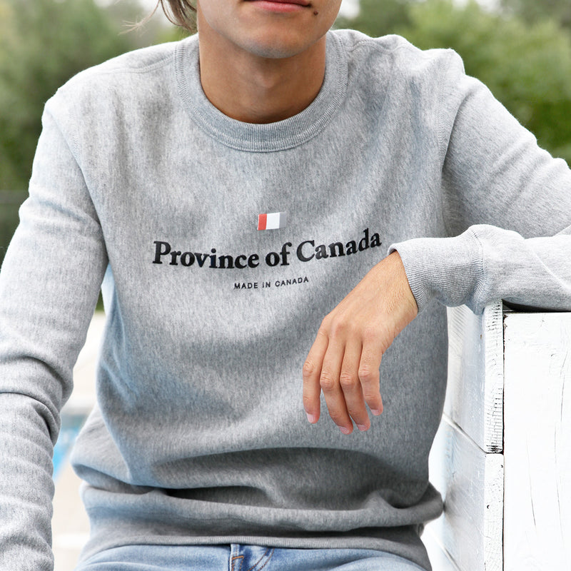 Province of Canada - Made in Canada - Logo Crewneck Heather Grey