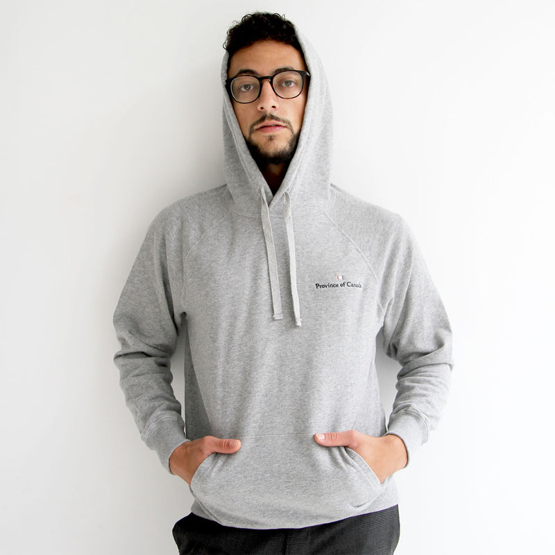 Logo Embroidered Hoodie Heather Grey Unisex - Province of Canada