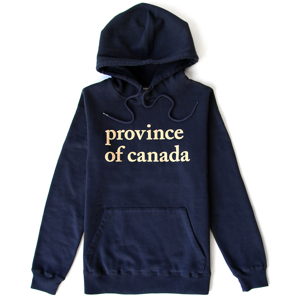 Lowercase Hoodie Womens Navy and Camel – Province of Canada 472e93ac7
