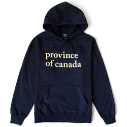 Lowercase Hoodie Mens Navy and Camel - Province of Canada