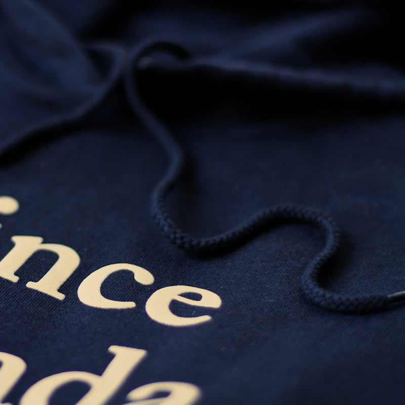 Province of Canada - Lowercase Hoodie Womens Navy and Camel