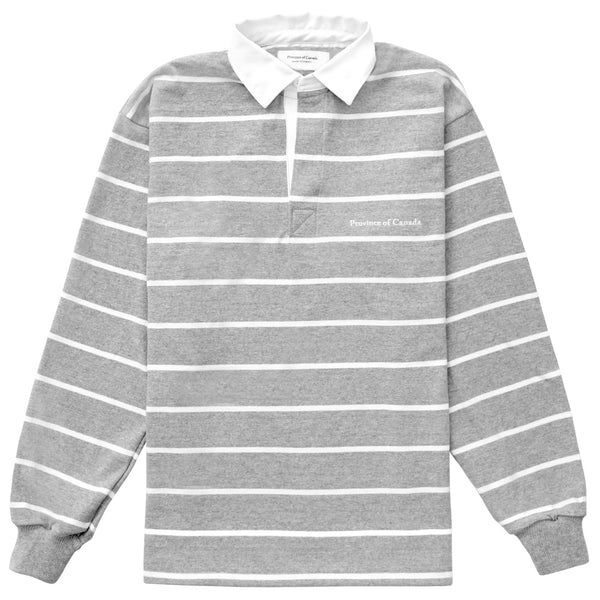 Mackenzie Heather Grey Rugby Shirt - Unisex - Made in Canada - Province of Canada
