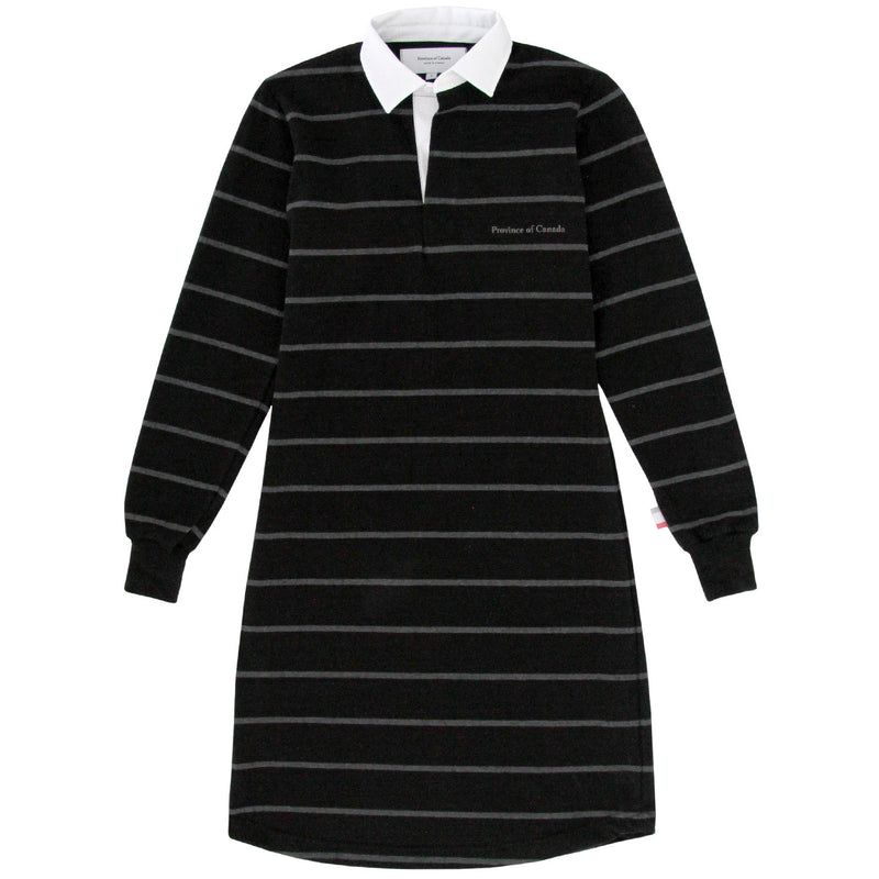 Mackenzie Black/Charcoal Rugby Dress - Province of Canada