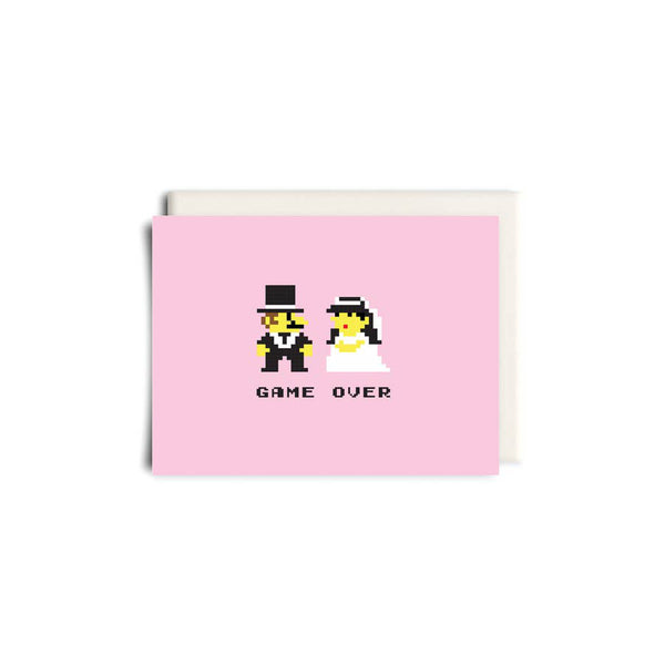 Mario Bros. Wedding Greeting Card - Made in Canada - Province of Canada