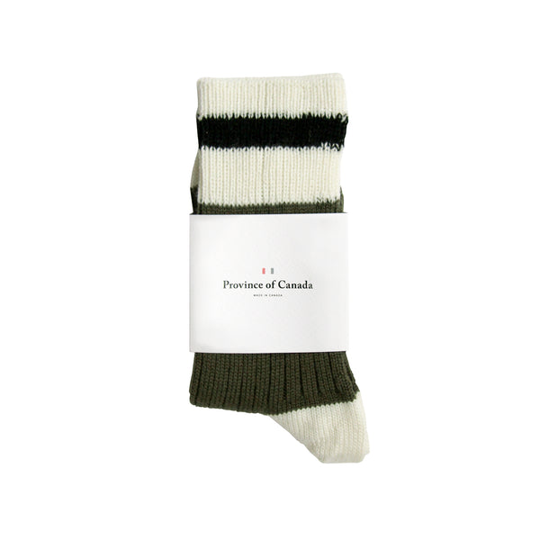 Merino Wool Military Green Sock - Province of Canada