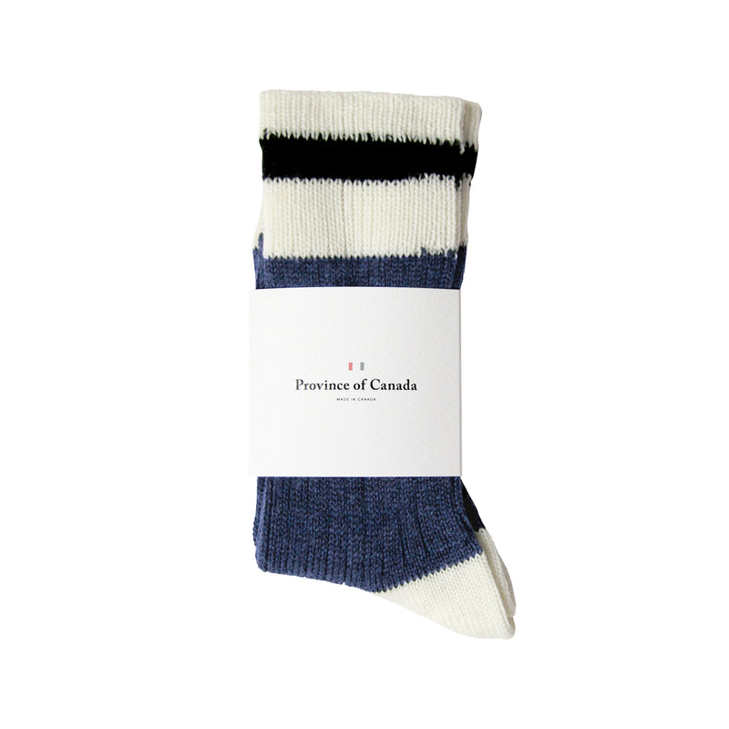 Merino Faded Navy Sock - Province of Canada